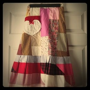 Patchwork hippie skirt